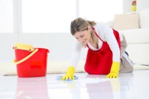 rengöring av golv ingår